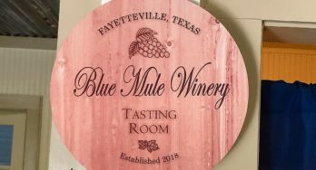 Blue Mule Winery sign