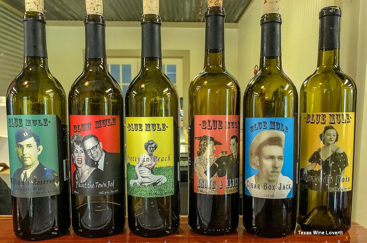 Blue Mule Winery wines
