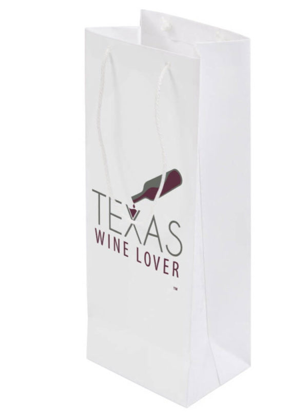 Texas Wine Lover Gift bag back angled