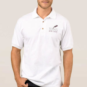 Texas Wine Lover Men's Polo Shirt front
