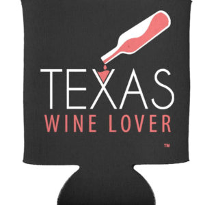 Texas Wine Lover can cooler front