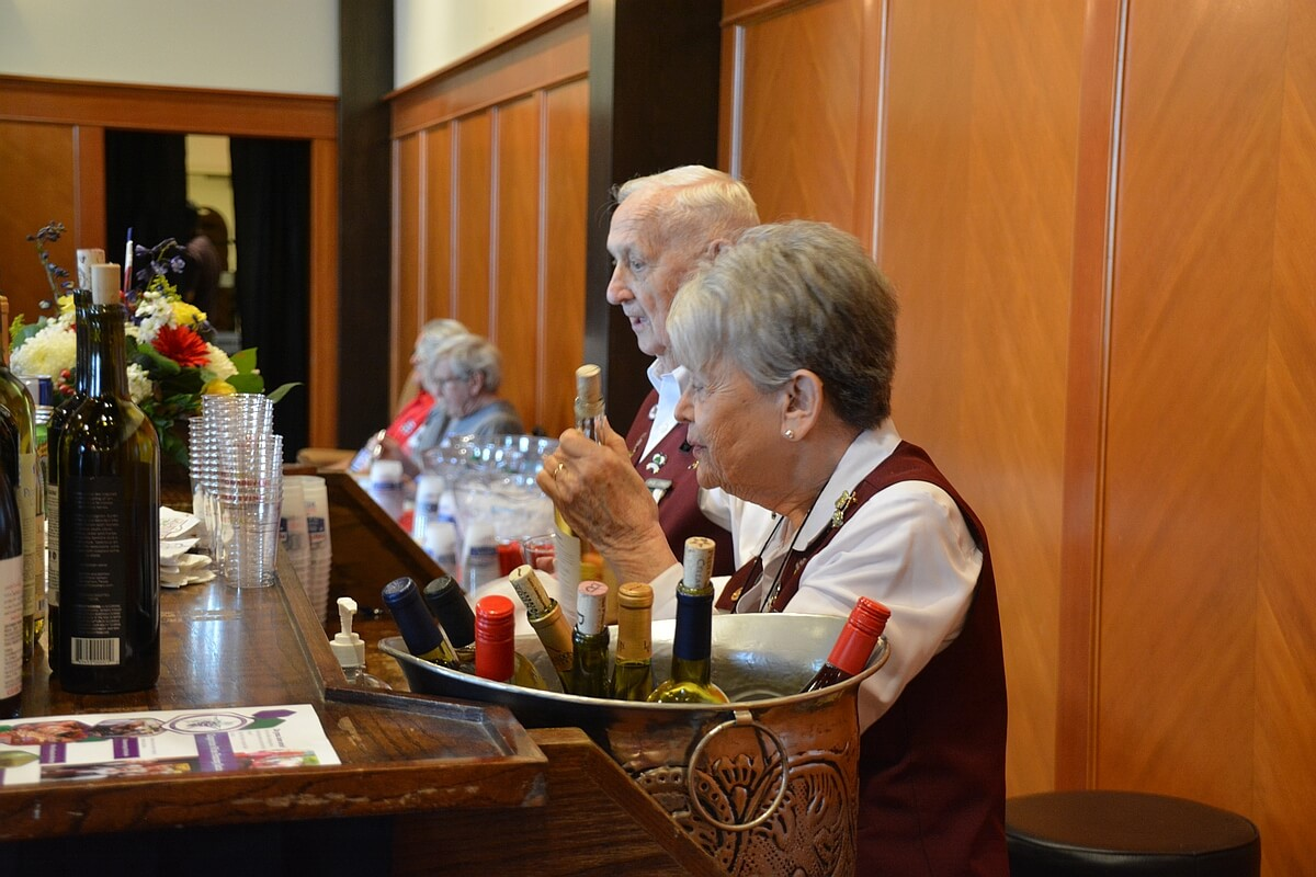 Grapevine Wine Pouring Society members in action