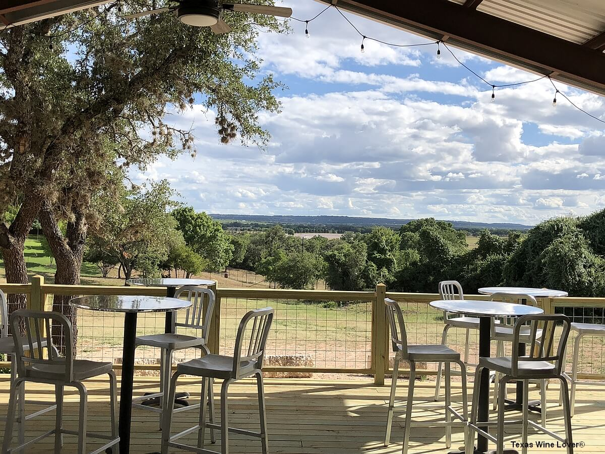 Texas Heritage Vineyard porch view