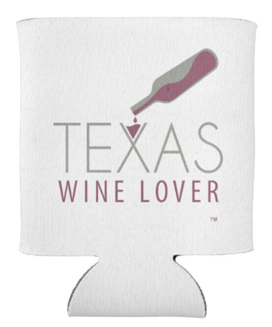 Texas Wine Lover koozie front