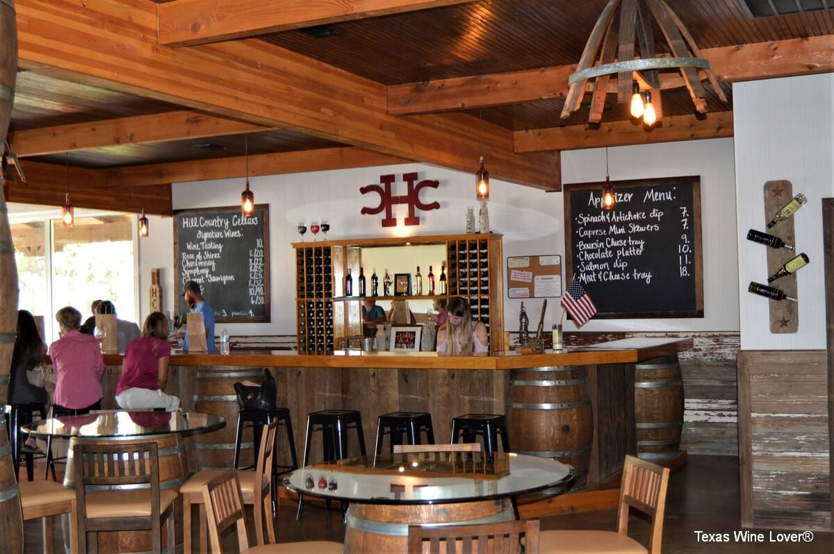 Hill Country Cellars Winery tasting bar