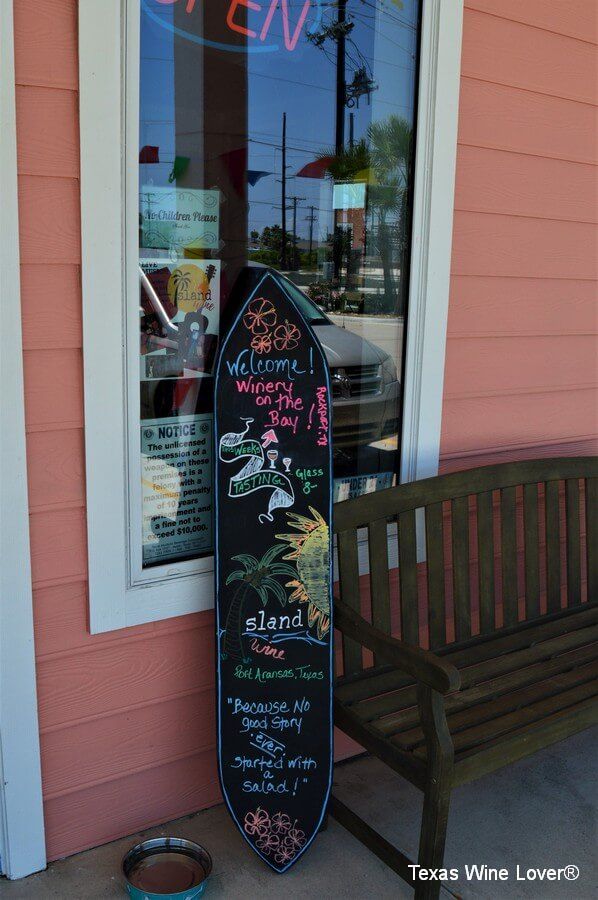Island Wine front sign