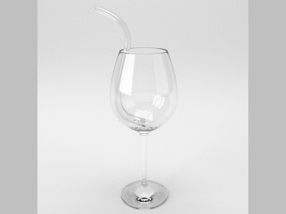 D'Vine Wine Straw glass