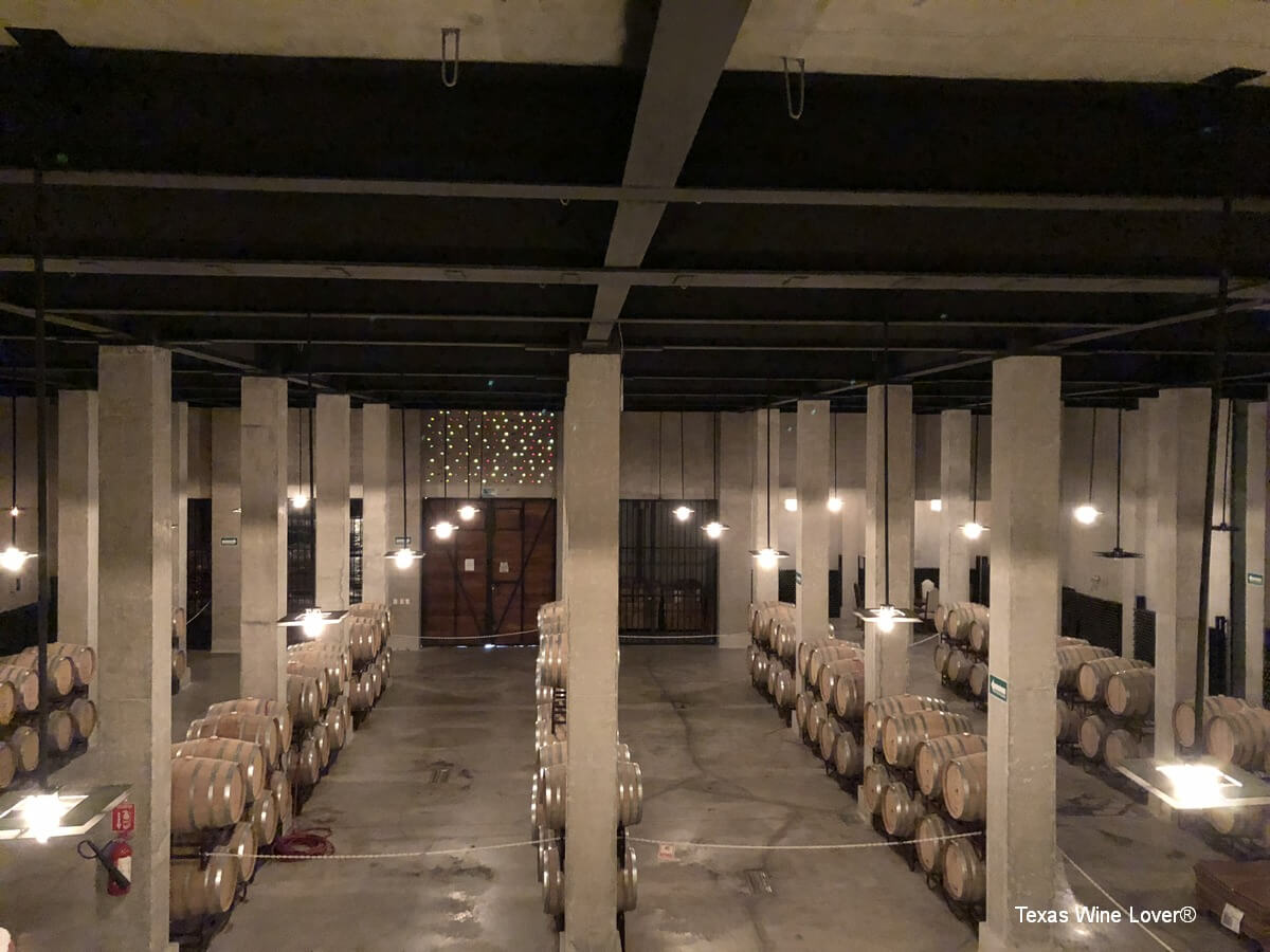 The barrel cellar at De Cote