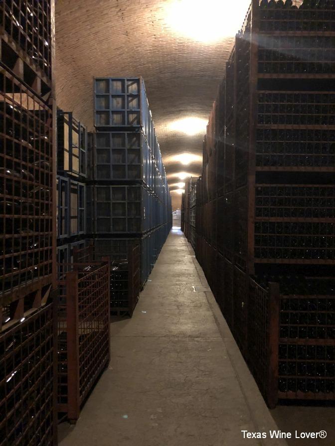 Freixenet cellar bottle cages