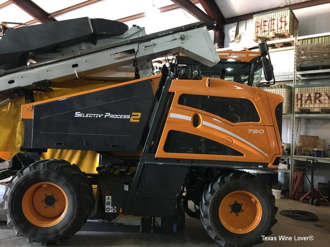 Newsom Vineyards Pellenc Harvester