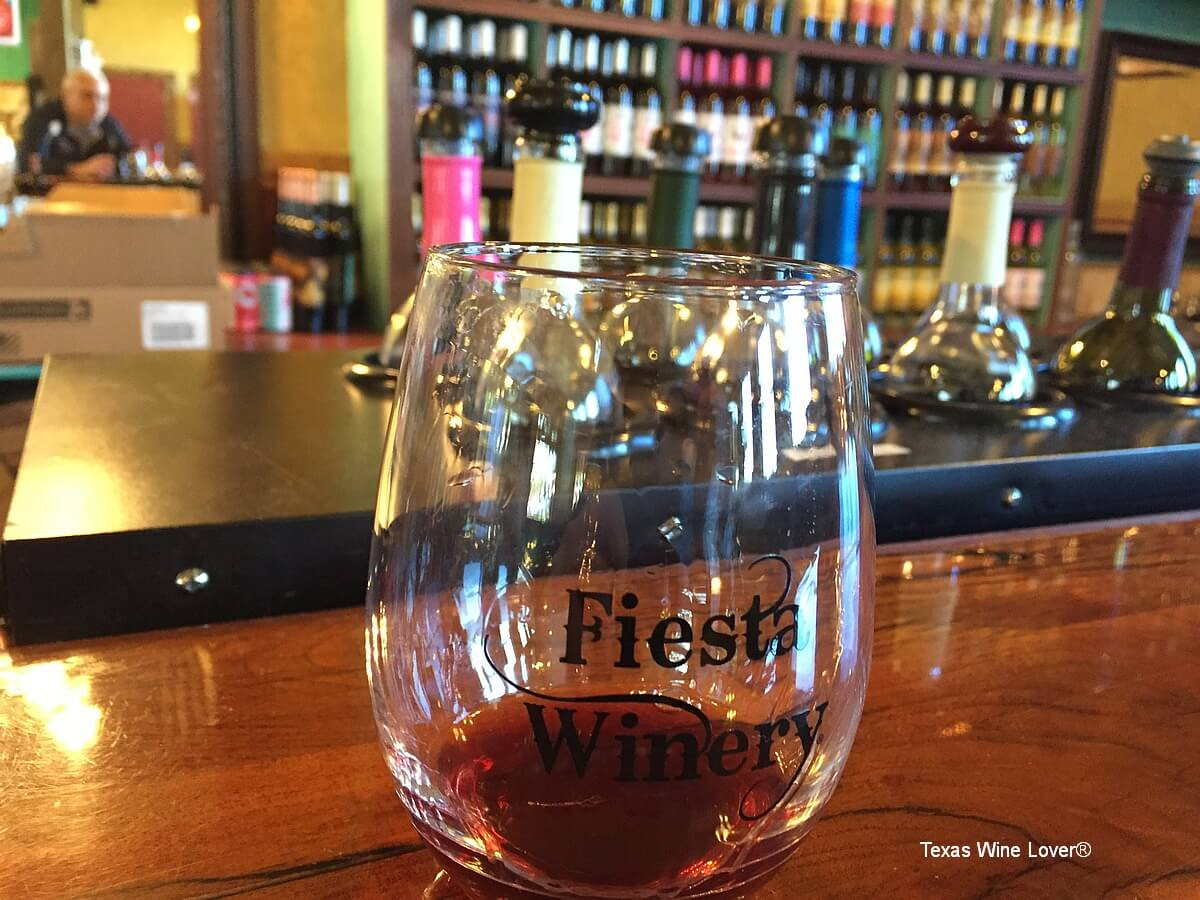 Fiesta Winery glass