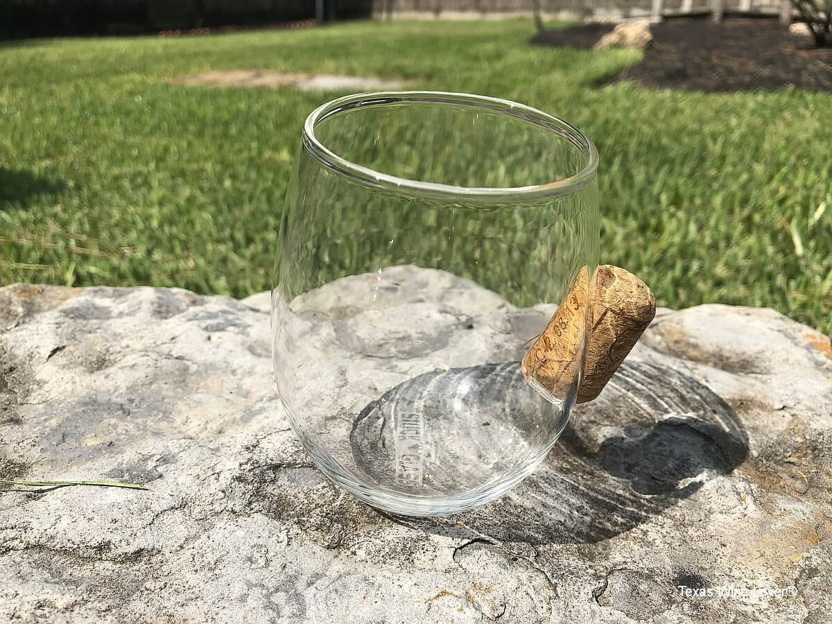Stuck in Glass empty with cork to back