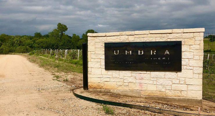 Umbra Winery sign
