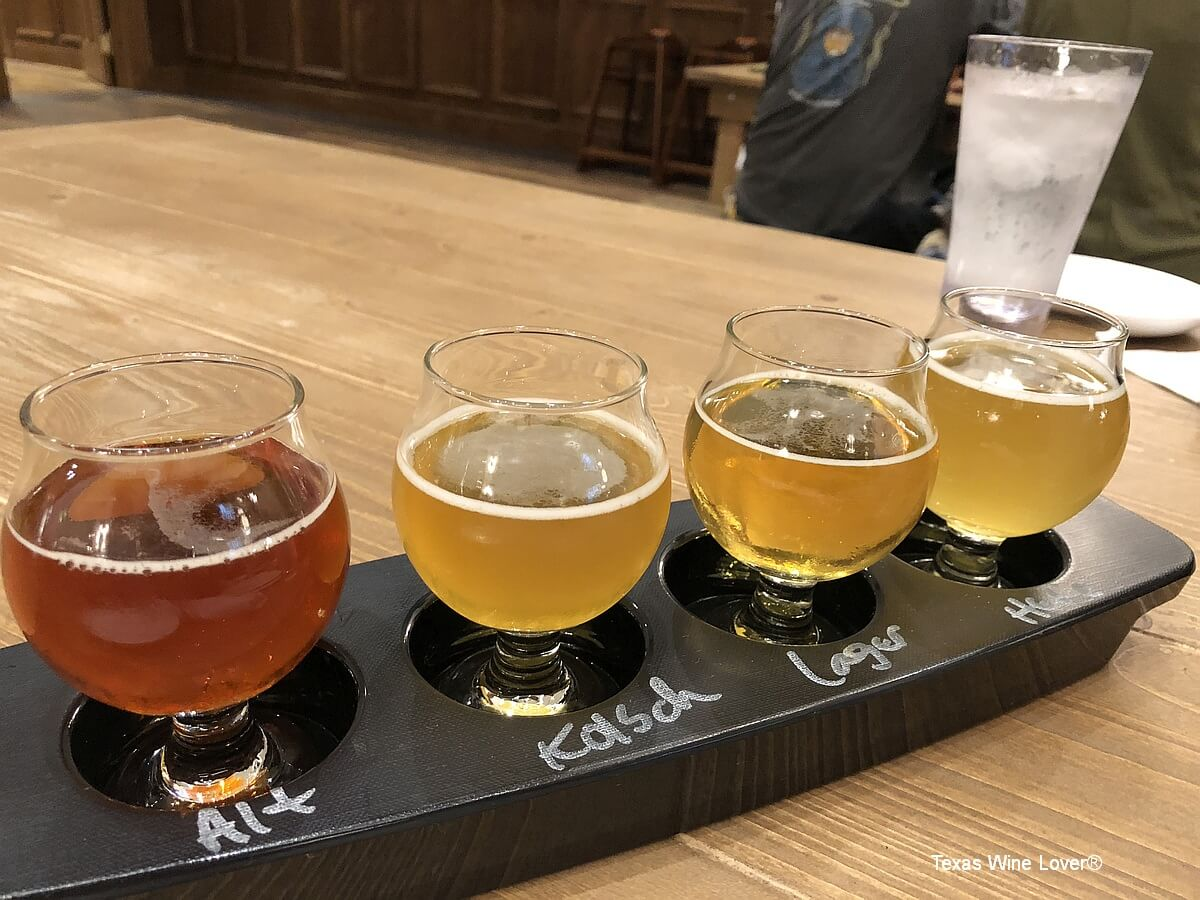 Alstadt Brewery tasting flight