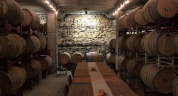 Hawk's Shadow Winery barrel room