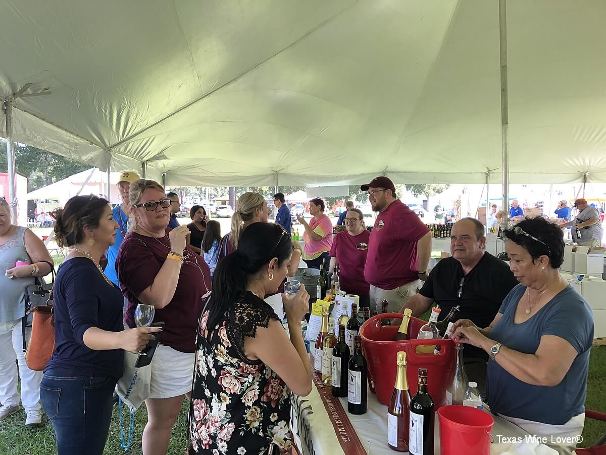 Texas Wine Festival in tent