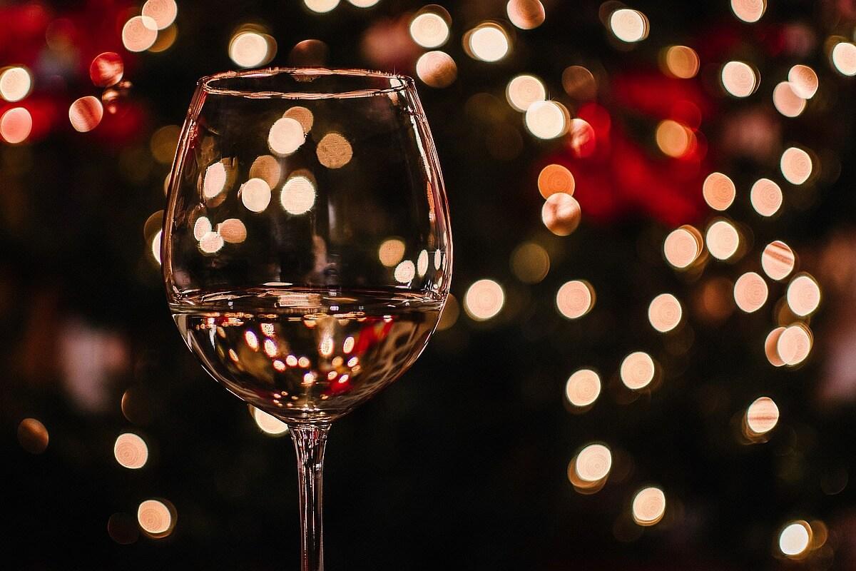 Christmas holiday wine