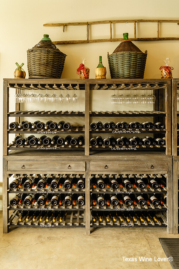 Cross Mountain Vineyards wine racks