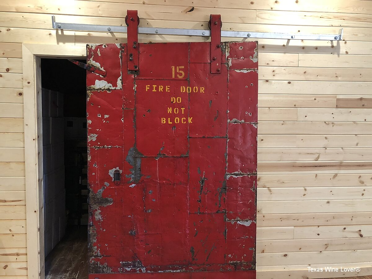 Red House Winery fire door