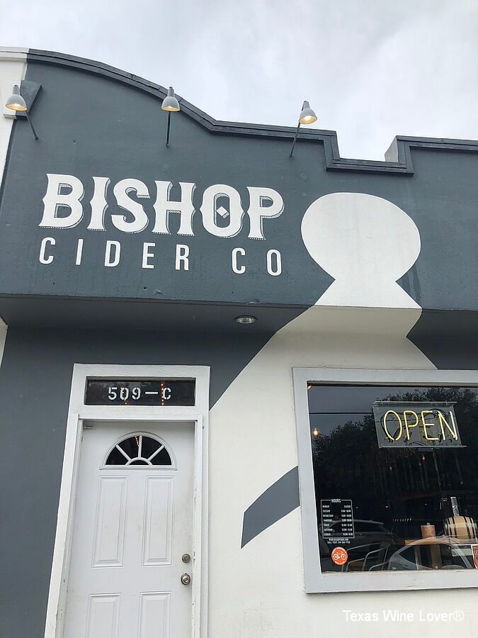 Bishop Cider Co outside