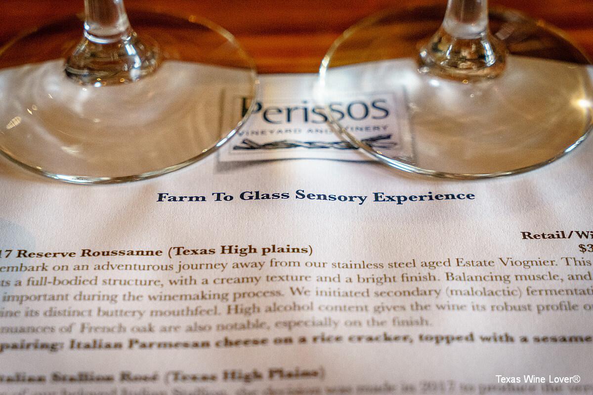 Perissos Farm to Glass Sensory Experience | Texas Wine Lover