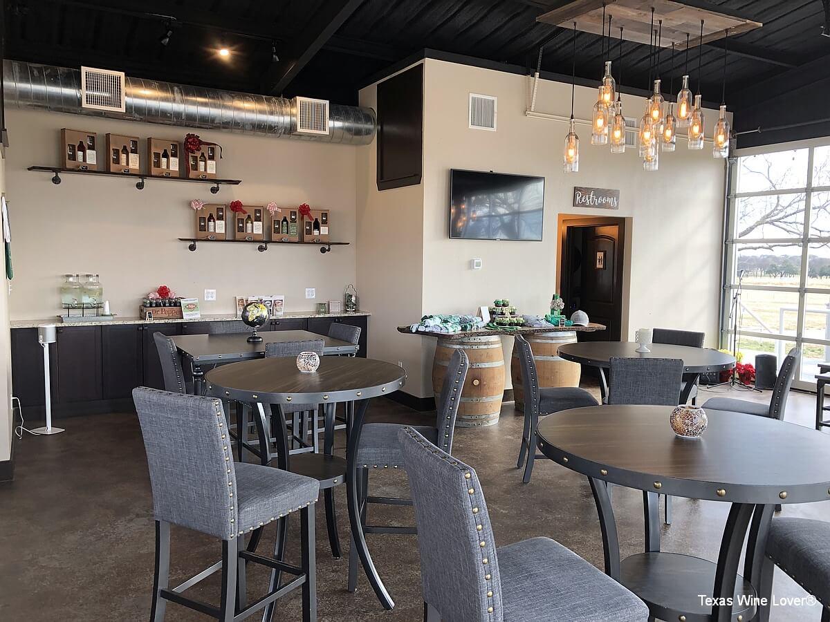 Lucky Vines Vineyard & Winery tables in tasting room