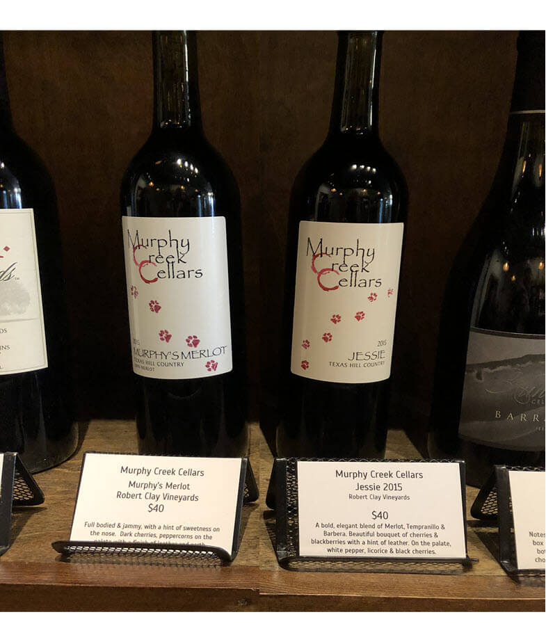Murphy Creek Cellars wines