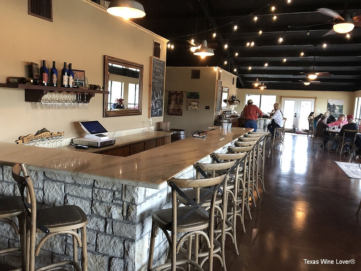 Bull Lion Ranch and Vineyard tasting bars