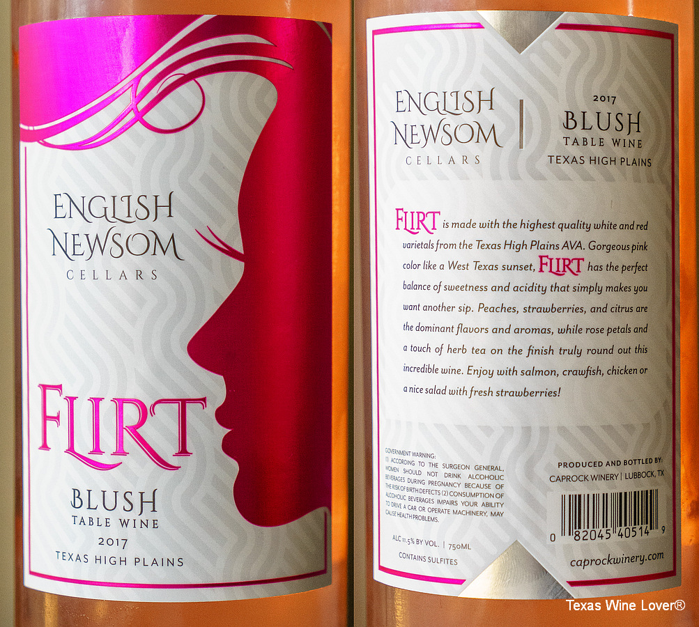 English Newsom Flirt label