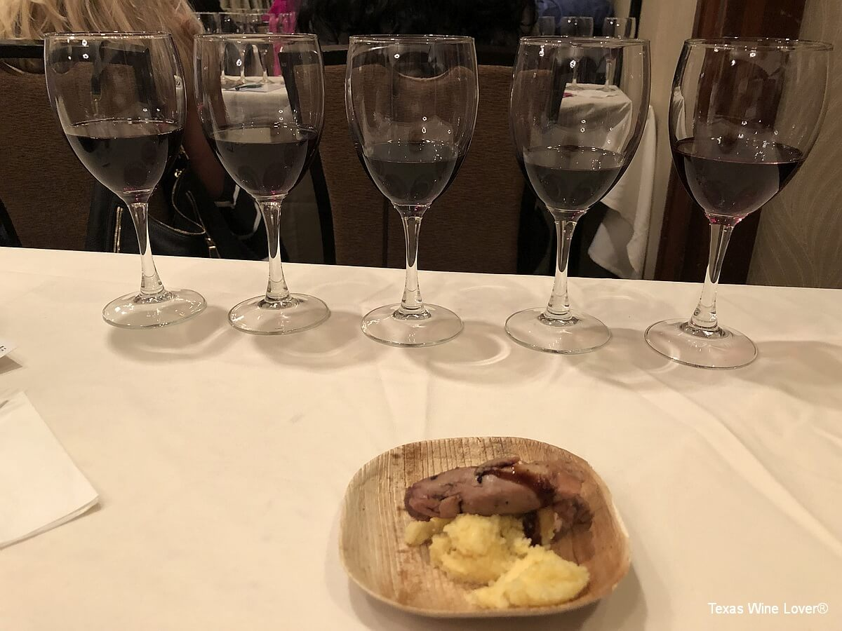 Italian red wines with smoked duck BBQ