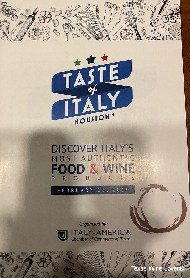 "The ""Taste of Italy – Houston"" sponsored by the Italy-America Chamber of Commerce of Texas"