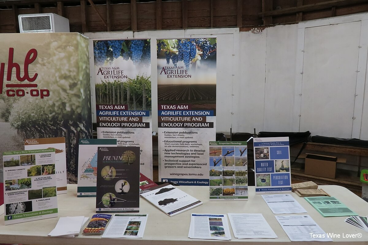 Texas A&M AgriLife Extension table