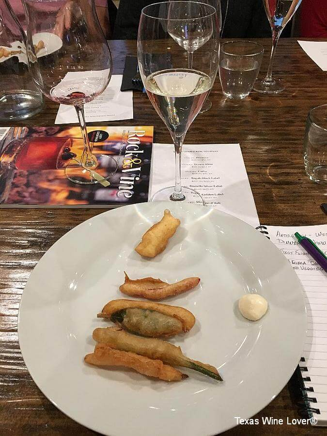 Prosecco and fried veggies