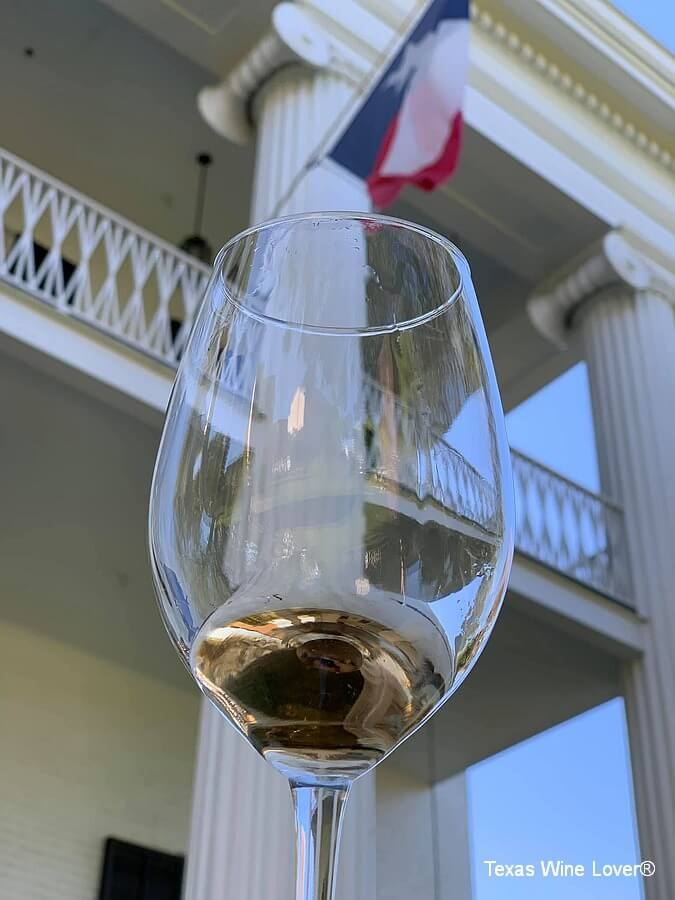 Brennan Vineyards wine tasting at the Texas Governor's Mansion