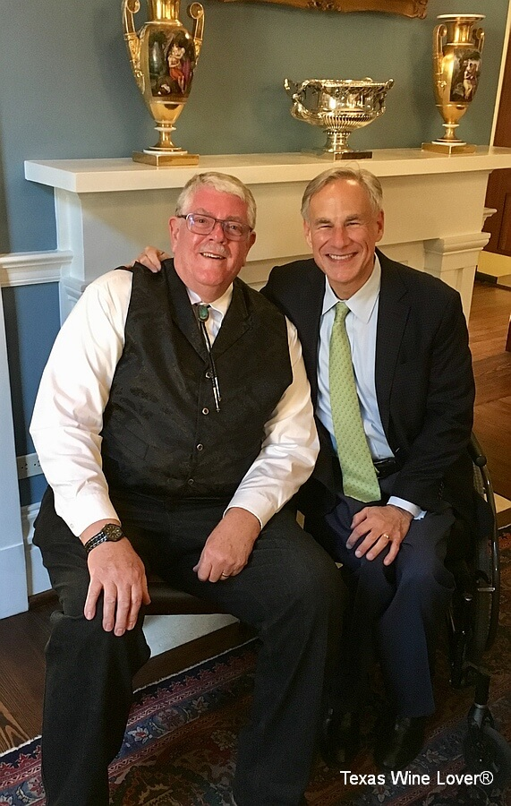 Carl Hudson and Governor Greg Abbott