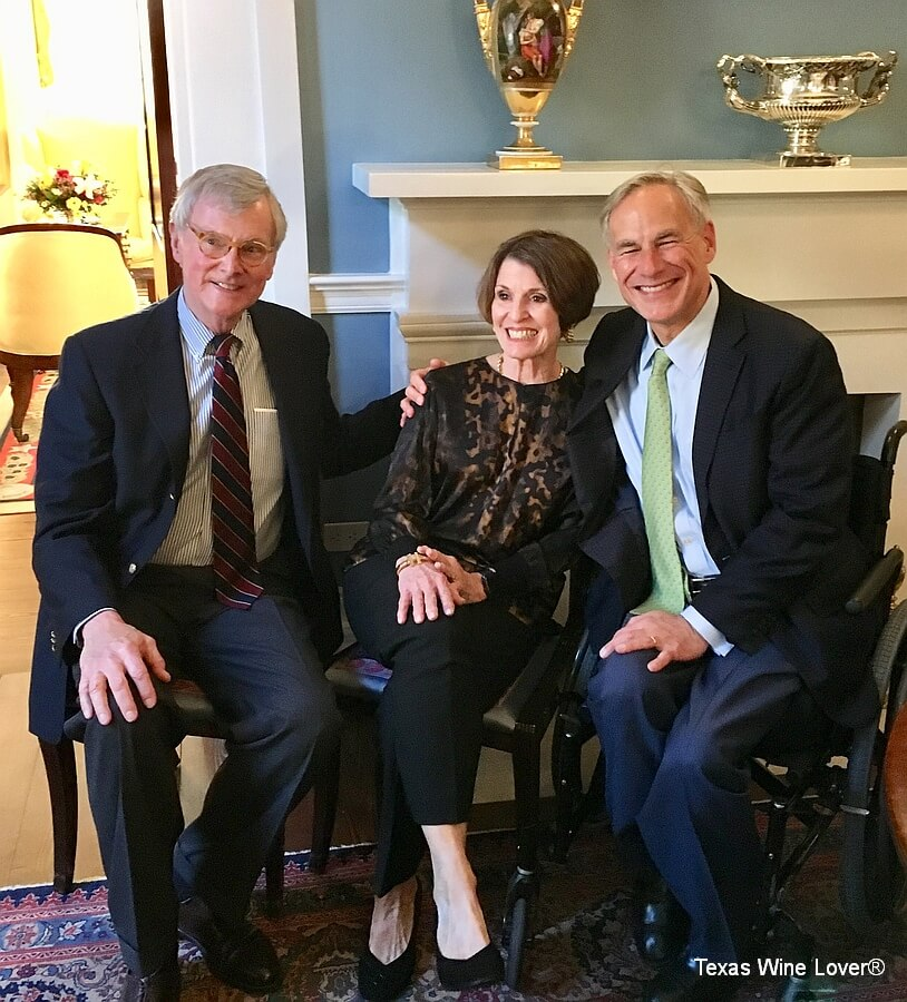 Pat and Trellise Brennan with Governor Greg Abbott