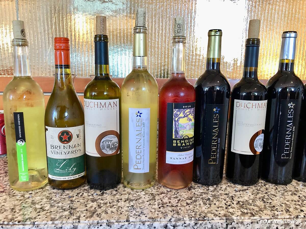 Texas Fine Wine bottles 2