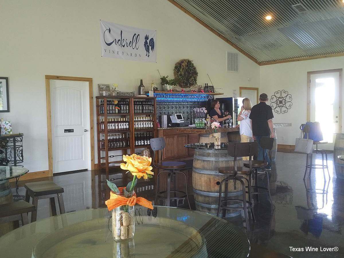Cockrell Vineyards tasting room