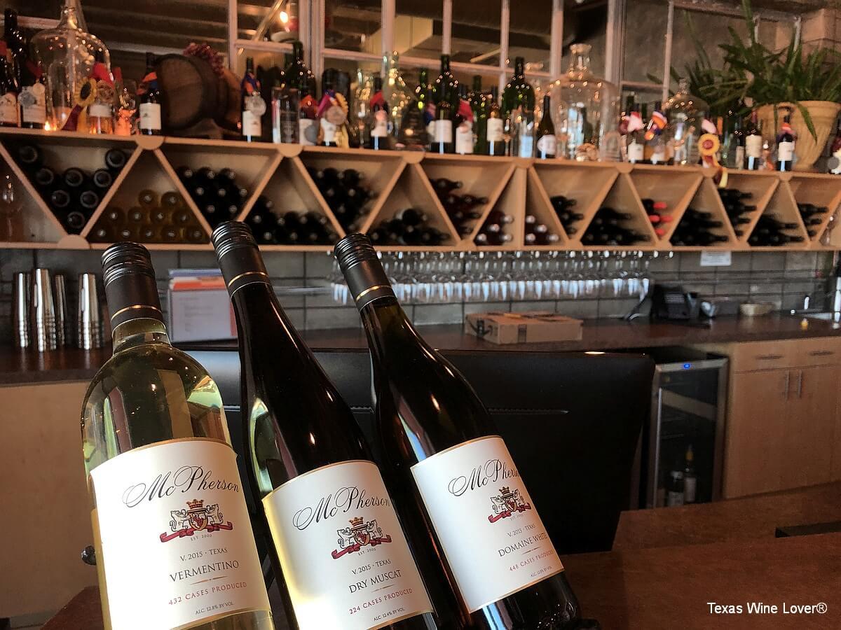 McPherson Cellars tasting bar