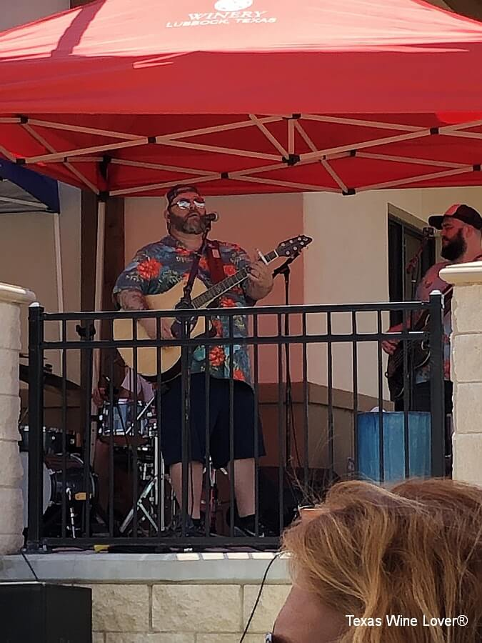 Shane Rogers Band performing on the patio