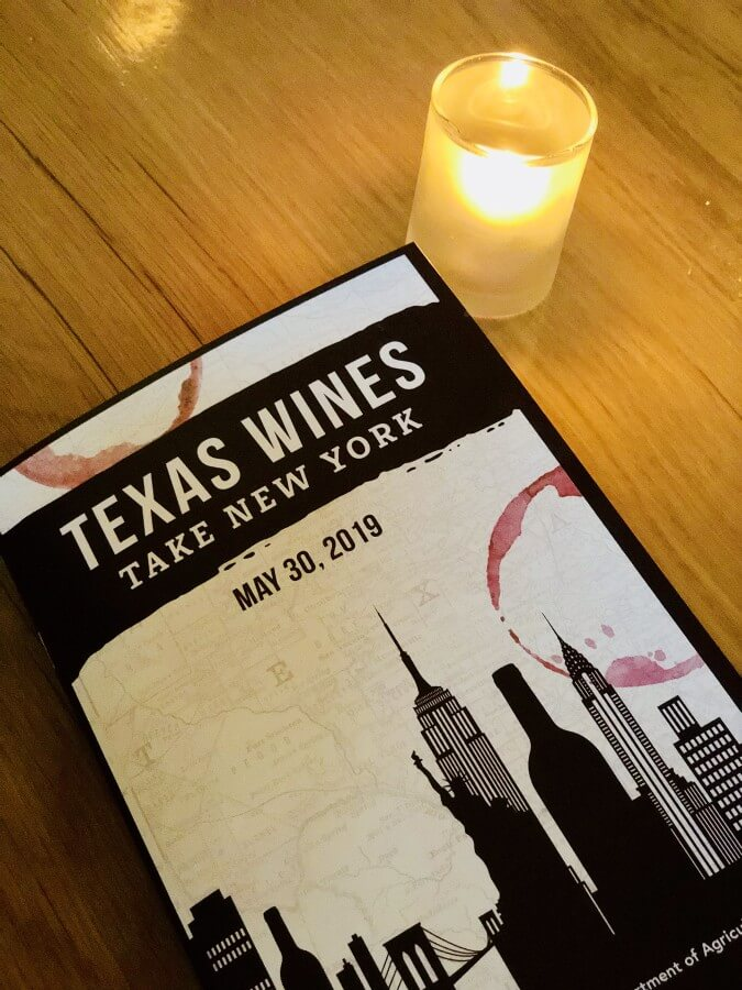 Texas Wines Take New York front cover