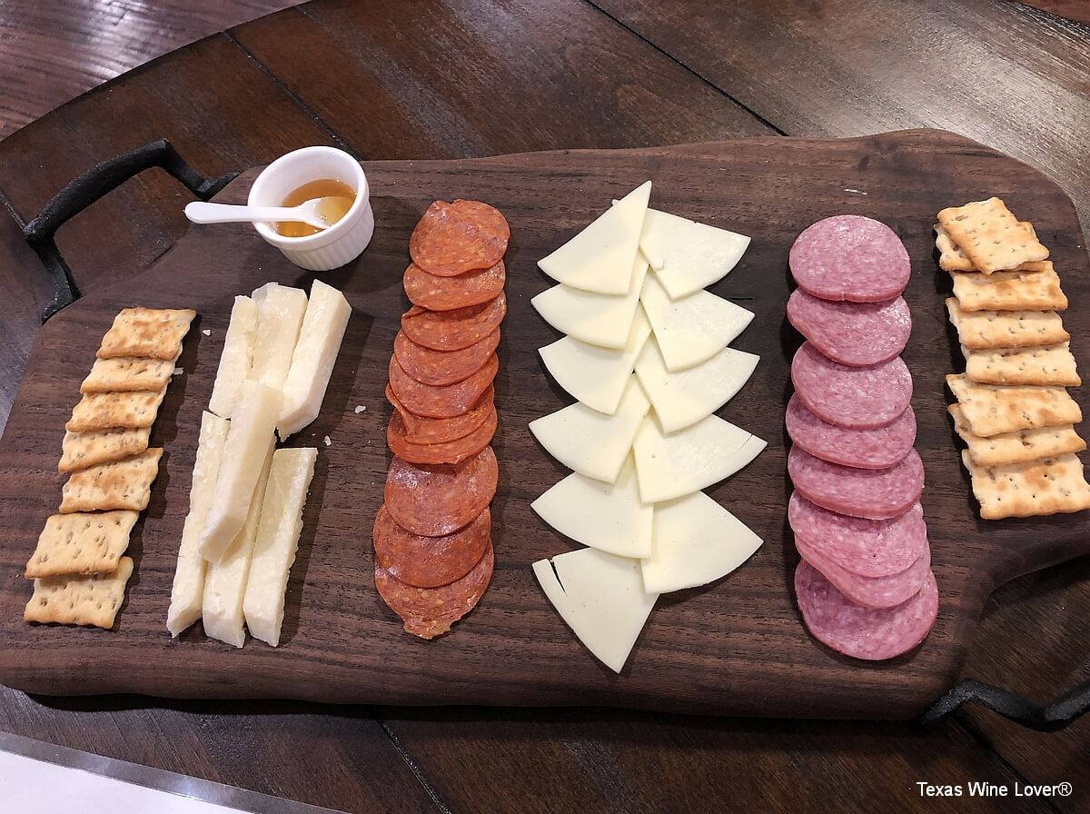Cassaro Winery meat and cheese platter