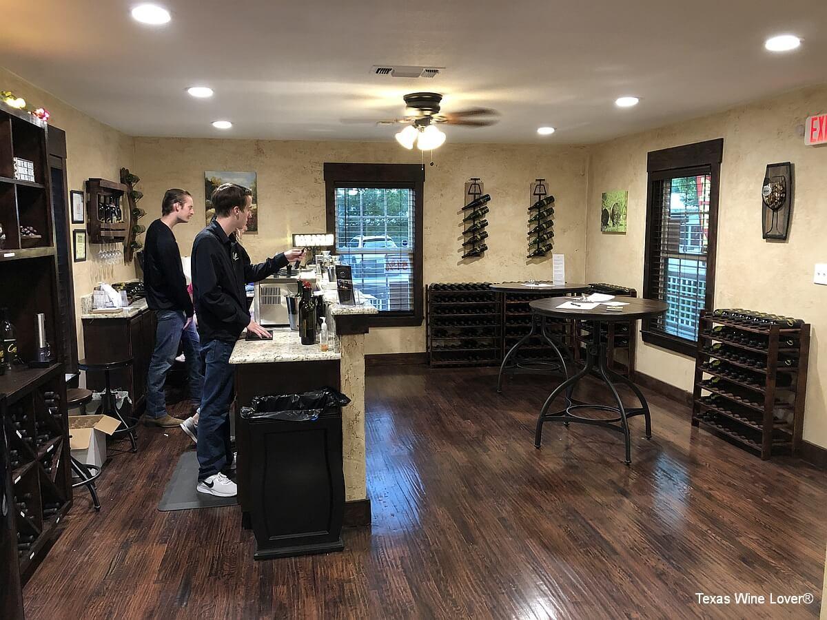 Cassaro Winery tasting room