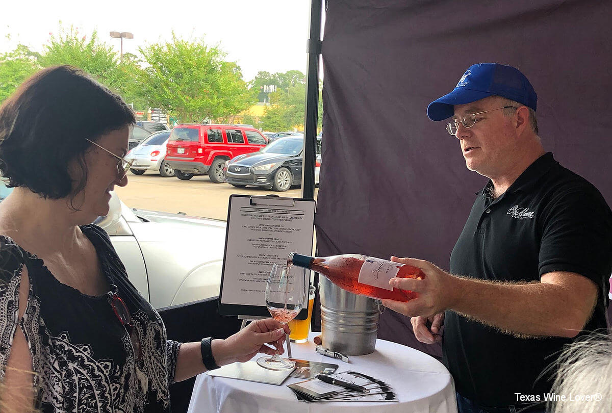 Kuhlman Cellars owner Chris Cobb poured the 2018 Hensell Rosé at the winery's roadshow stop at Plonk! in Houston