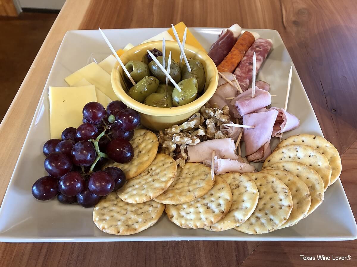 Teysha Vineyard cheese and meat tray