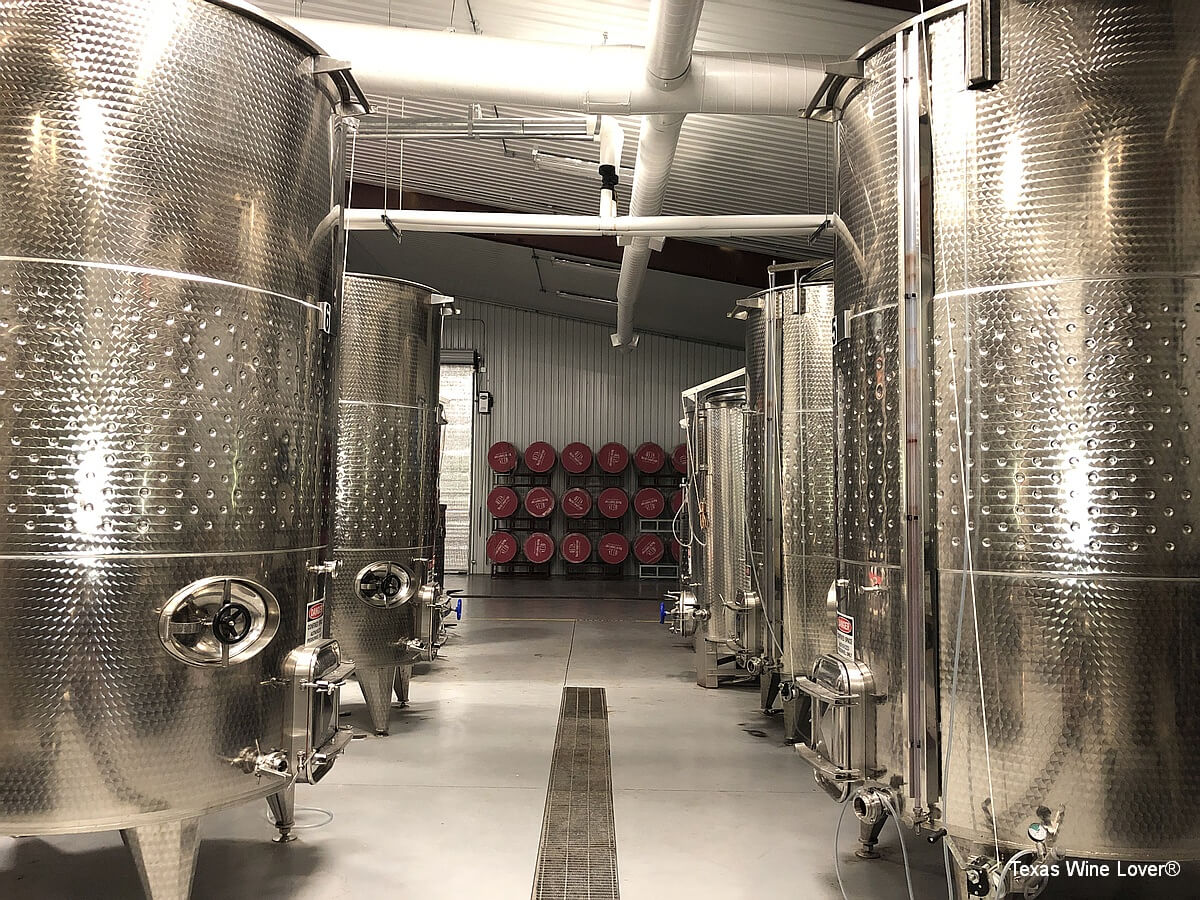 West Sandy Creek Winery production area