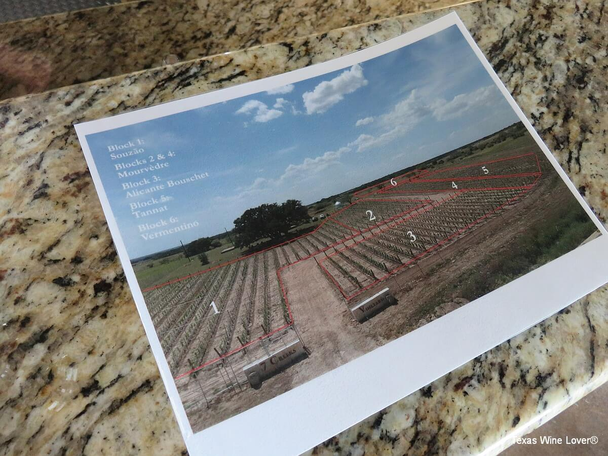 7 Creeks Vineyard vineyard map