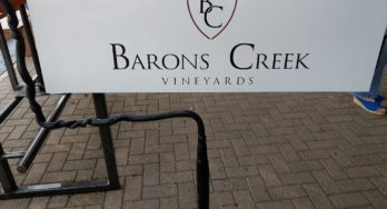 Barons Creek Wine Room outside sign