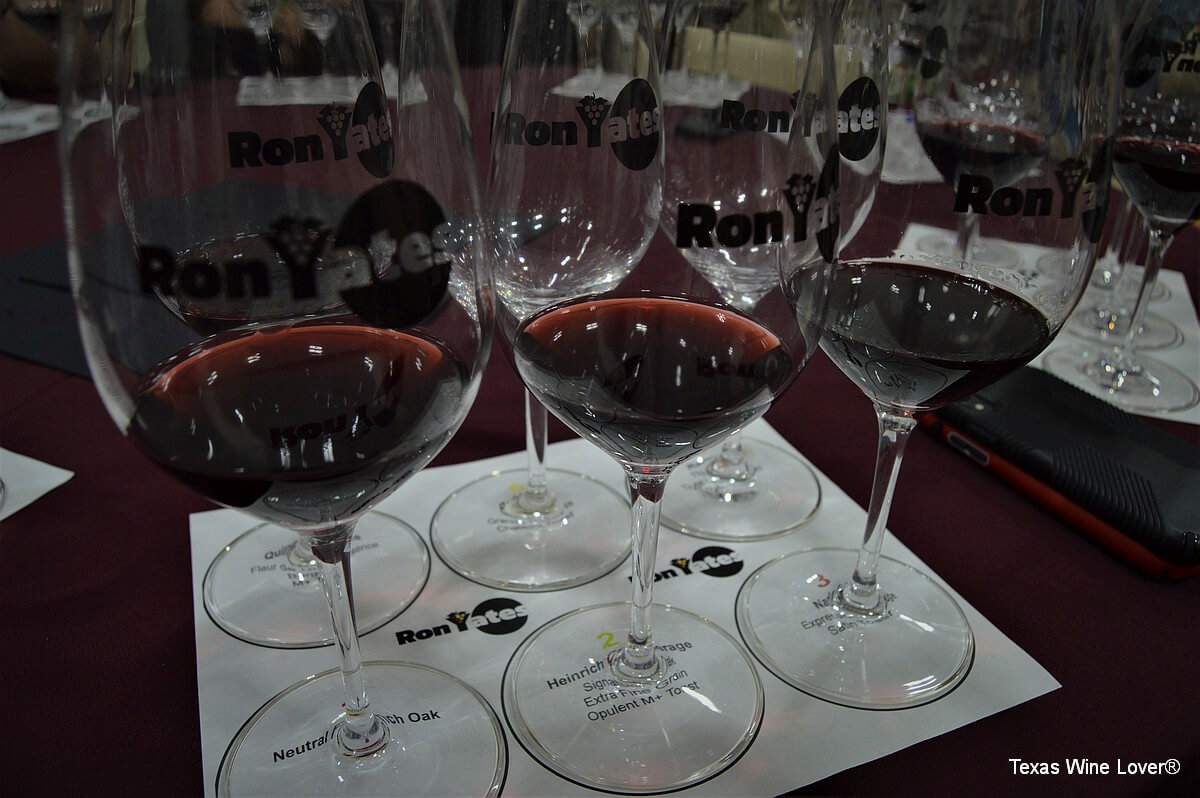 Ron Yates wine glasses set-up