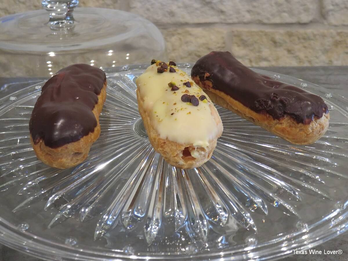 Eclairs at French Connection Wines